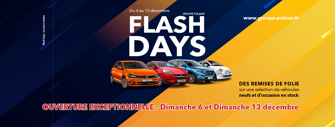 Mieux que le Black Friday, les Flash Days du Groupe Polmar du 4 au 13 décembre !