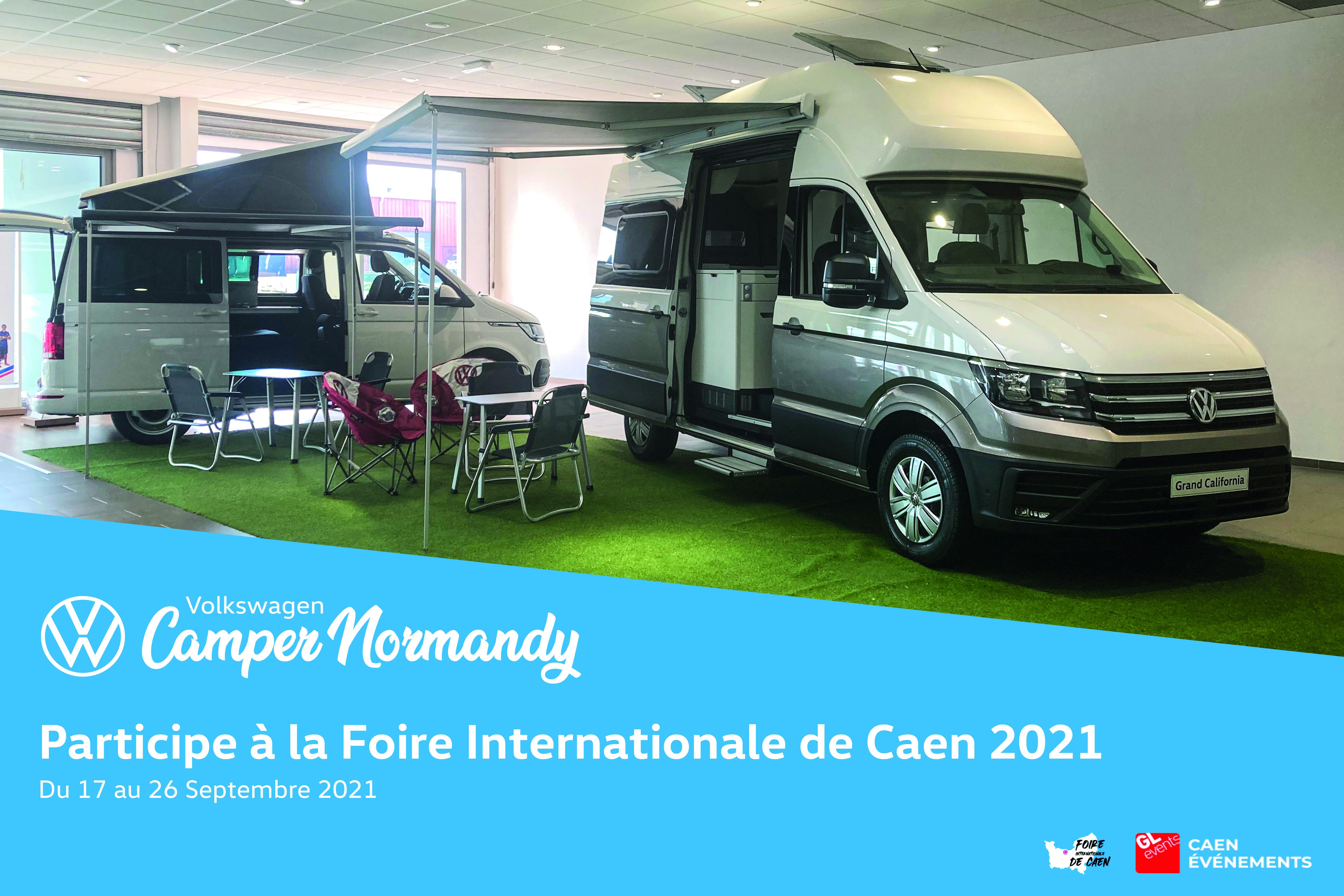 Volkswagen Camper Normandy s'invite à la Foire Internationale de Caen 2021